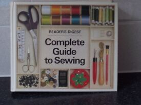 Complete Guide to Sewing, Readers Digest. Over 500 pages of everything involved in sewing. £7