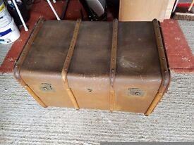 Antique travel trunk.