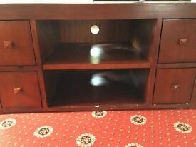 Vintage solid wood tv unit