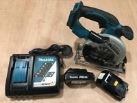 Makita 18v circular saw + 2 x 18v Batteries & Makita fast Charger