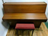 Beautiful Mahogany 'Barratt & Robinson' Upright Console Piano & Stool - CAN DELIVER