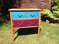 Oak chest of drawers, original, retro, 1940's up cycled, shabby chic, classic, vintage