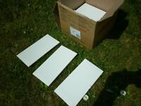 BRAND NEW GLOSSY WHITE CERAMIC METRO TILES X 28