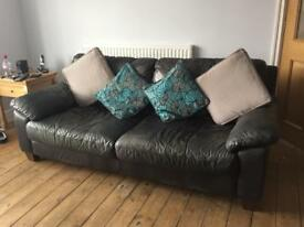 Black Sofa + foot stool