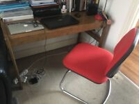 Tv Stand, wooden table, office chair