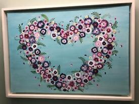 Large floral Heart