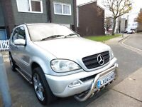 2004 [04] MERCEDES ML 270 CDI AUTO DIESEL 7 SEATER SEATS 4X4 ONLY 95K MILES with 1 PREVIOUS OWNER