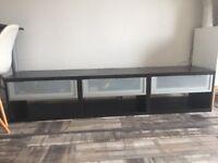 Ikea tv unit plus 2 wall units brown/black