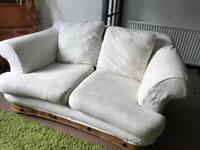 Two seat white sofa