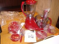 Next Red 700 Watt Food Processor. Unused Still in Box