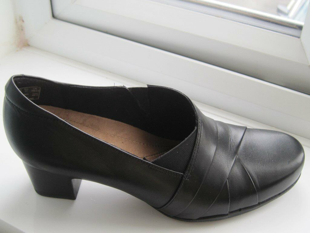 79b623cbbd1 Ladies Clarks Rosalyn Adele Black Leather Shoes size 7 E fit | in Carlisle,  Cumbria | Gumtree