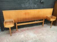 Fabulous mid century double headboard with built in cabinets by Alfred Cox