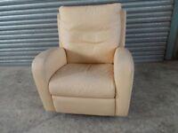 Genuine Natuzzi Italian Leather Recliner Chair (Sofa/Suite)