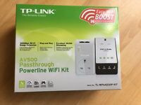 TP- Link AV500 Passthrough Powerline Wifi Kit Adapter