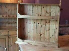Excellent pine wall mounted Bookcase by Ducal
