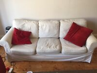 3 seater white sofa for quick sale