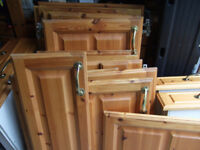 Solid pine kitchen cabinet doors