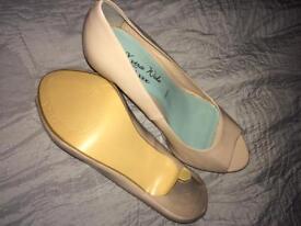 Nude Peep Toe High Heels