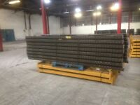 job lot 10 bay run of link pallet racking( storage , industrial shelving )