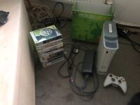 White Xbox 360 with wireless controller
