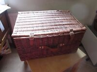 Beautiful, Large Cane Picnic Hamper in Immaculate Condition