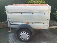 Brenderup trailer + extension sides/Abs hardtop/jockey wheel