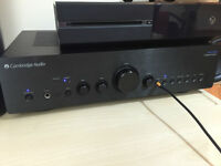 lovely cambridge audio azur 550a version 2 brushed black amplifier with remote&manual
