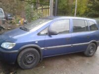 breaking...... vauxhall zafira 1.8 petrol 2002 plate.................... all parts available