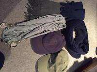 Joblot of scarves, gloves and two fat face caps