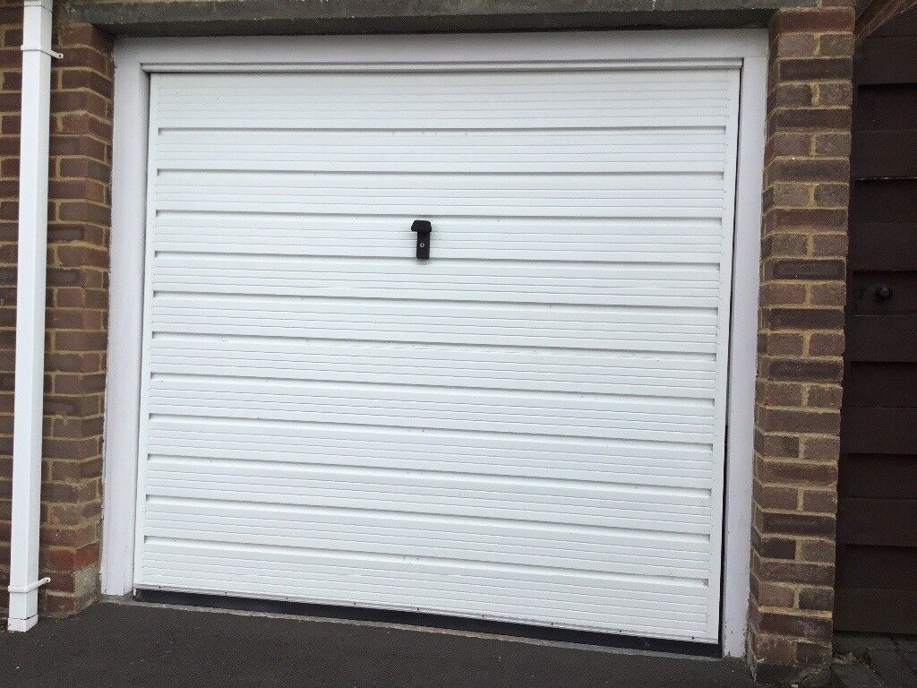 Up And Over White Metal Garage Door With Frame 2m 30