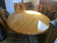 Dining (or Kitchen) Table & 4 Chairs for sale