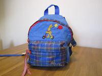 blue rucksack for toddler or pre-schooler