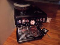NEW PRICE BARGAIN SAGE BARISTA EXPRESS COFFEE MACHINE / MAKER AS NEW BLACK CHROME