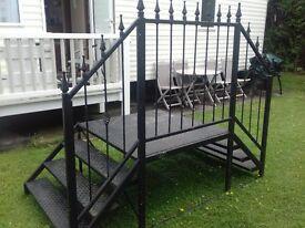 static caravan steps black