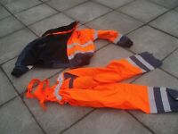 HIGH VISIBILITY JACKET/TROUSERS with inner lining