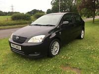 2003 53 PLATE TOYOTA COROLLA 1.4 VVTI T3 3 DR HATCH IN BLACK