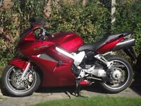 VFR800VTEC ABS 2006 47000mls candy red excel condition, major service, new MOT, FSH, one owner