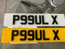 P99ULX - P99UL X - P99 ULX - PAUL X PRIVATE NUMBER PLATE PERSONAL PLATE CHERISHED PLATE