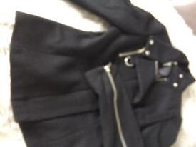 Topshop Black Wool Jacket