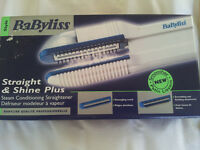 Babyliss straight and shine plus - straighteners- NEW- in box