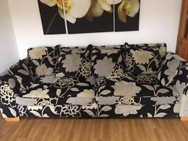 Dfs settee and swivel chair