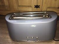 Breville grey 4 slice toaster