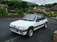 A LOVELY PEUGEOT 205 CTI FITTED WITH THE 1.6 ENGINE MOT TILL JUNE 2017