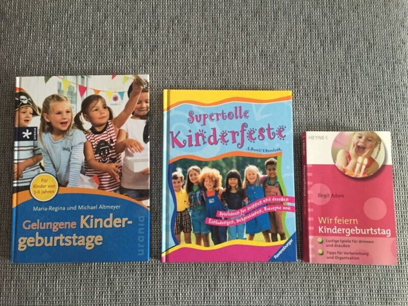 top 3er buch set kindergeburtstag kinderparty mottoparty planen in nordrhein westfalen. Black Bedroom Furniture Sets. Home Design Ideas
