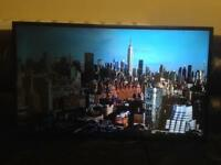 smart led 42 inch TV with web browser and free-view hd and USB media player