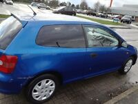 Honda civic 2002 blue manual hatchback 1.4 petrol