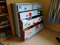 Children's solid wood chest of drawers