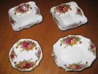 Royal Albert Country Roses sweet dishes