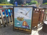 Very collectible pub metal double sided sign