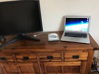 "MacBook Air13"" bundled with 27inch Monitor, keyboard, Magic Mouse, Disc drive. Perfect condition"